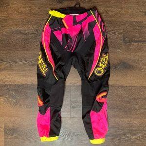 Girls O'Neal Element Black & Pink Motocross Pants